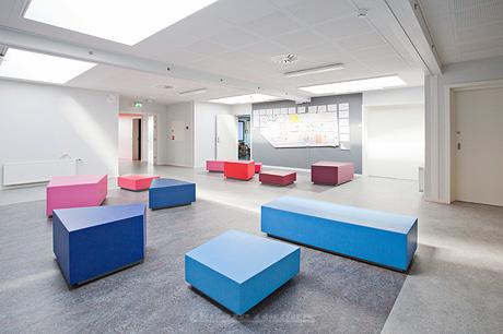 Custom seating solution – Pilegårdsskolen
