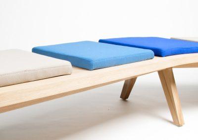 Airbench boomerang upholstered