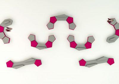 Custom pentagon and hexagon collection