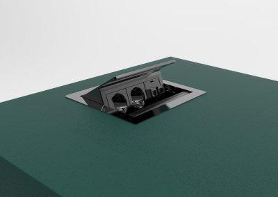 Power plug integration